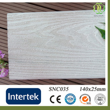 white washed wpc waterproof outdoor deck flooring/wood composite planks