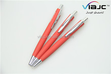 Confortable touch metal pen for office&school pen use promotional ball pen
