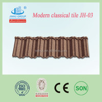 China supplier construction materials colorful sand coated metal roofing tile