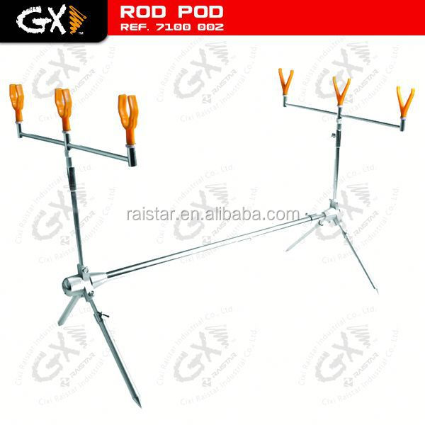 Aluminum carp fishing rod pod and motorcycle led strobe light