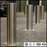 stainless steel bollards for parking lot, security bollards for governments, campus