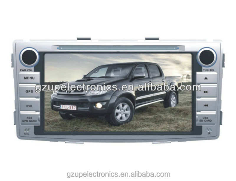 Touch screen In Dash car stereo multimedia DVD player for Toyota Hilux 2012 with GPS Bluetooth, toyota hilux dvd player