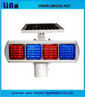 SBL-2430 Solar Traffic Warning Light Double Side Four Units