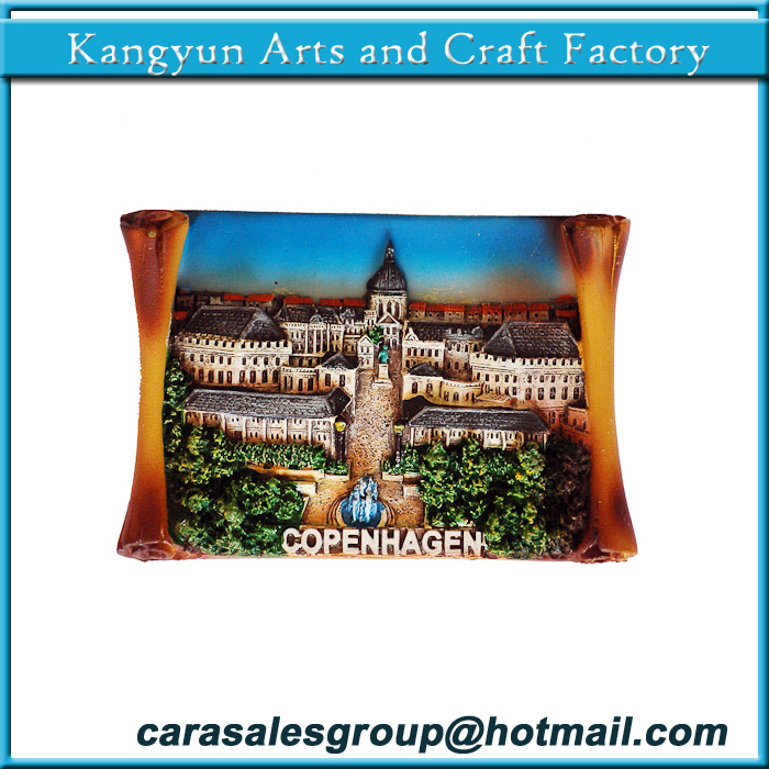 TOURIST SOUVENIR 3D Resin Travel Fridge Magnet