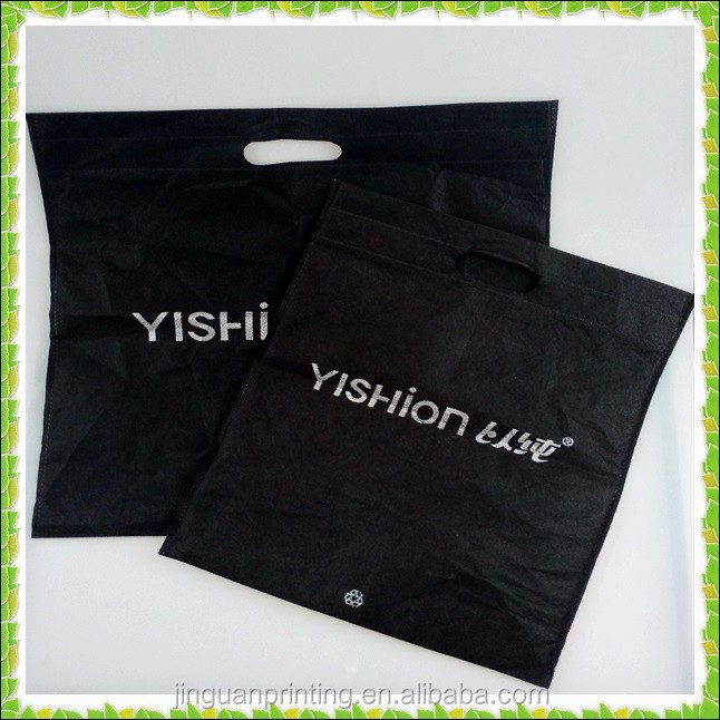 Yishion black non woven bag