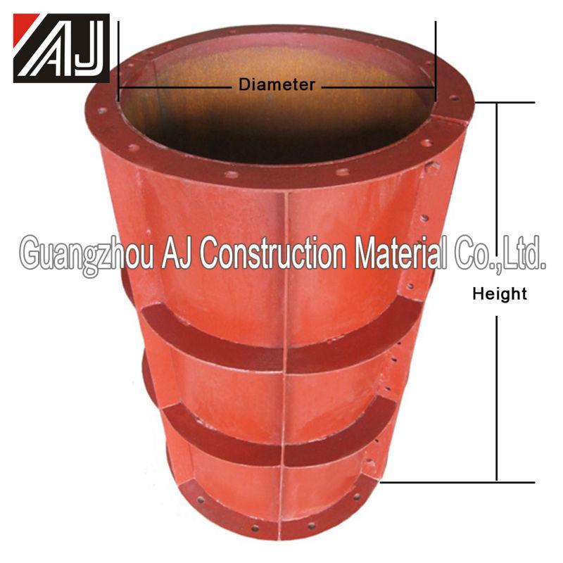 Round Shuttering Plates : Concrete steel round column formwork buy