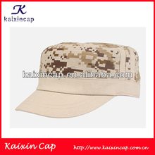 fashion custom military design flat top army cotton camo baseball cap