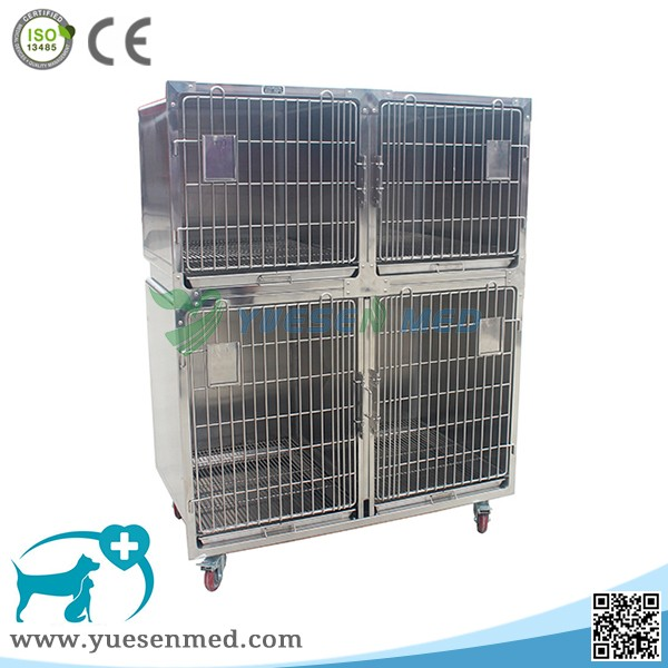 YSVET1220 Stainless steel large transport animal cage