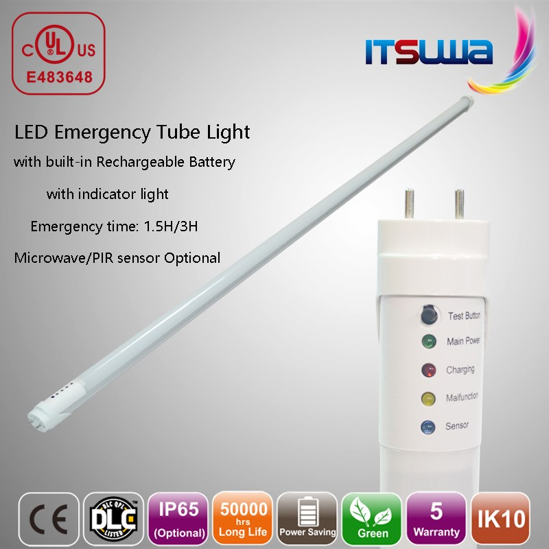 High Power LED Emergency Red Tube Light Circuit With PIR Sensor Decoration