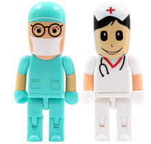Doctor nurse model usb flash drive 8GB 16GB 32GB 64GB USB 2.0 Flash drive
