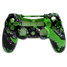 Hydro Dipped Green Splatter For PS4 Controller Shell For PS4 Housing Game Controller 2015 Housing