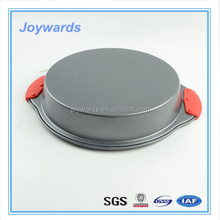 Muffin Round carbon steel cake Baking Pan Tray with handle