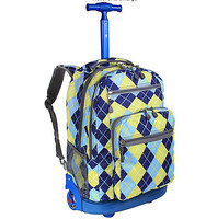 2015 promotion cute unique trolley kids school bag with wheels