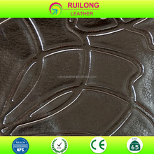 Shoes sole rexine pvc leather fabric material