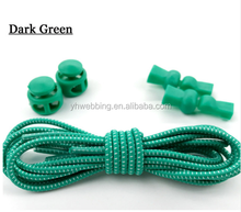 dark green New Funny Gadgets Convenient Lock Colorful Elastic No tie Silicone Shoelaces Lazy Shoe Laces for Sneaker