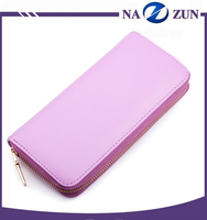 Bright Color Zip Lock Cheap Pu Leather Ladies Wallet ,PU Clutch Bags, Women Wallet for Lady