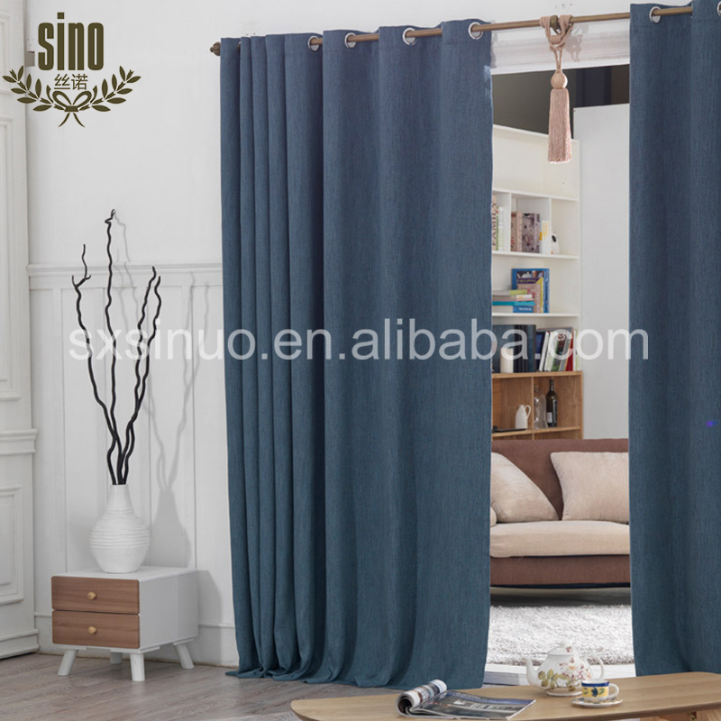 Decorative Ready Made Grommet luxury design blackout curtain