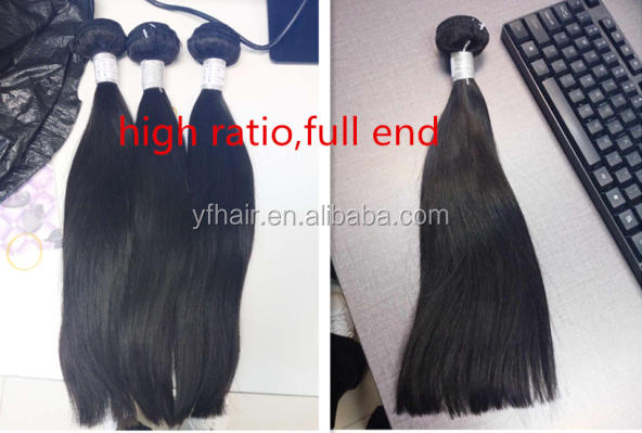 Wholesale price unprocessed full cuticle cheap soft indian virgin human hair thick bundles