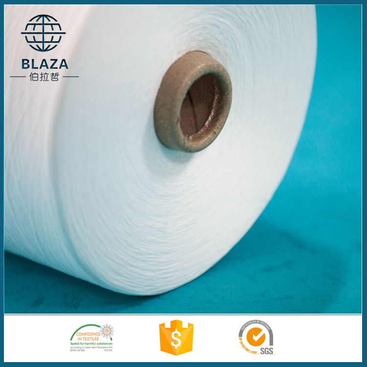 Poly core spun sewing thread raw white polyester yarn