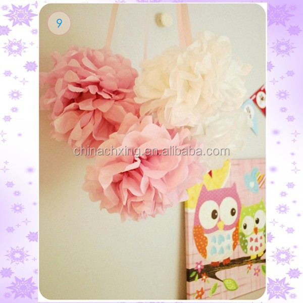 Large Tissue Paper Pom Poms Flower Balls decoraciones for Wedding Party
