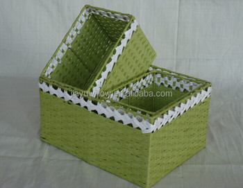 Hotsale Handmade Colored Storage Baskets Paper Rope Basket Storage Paper  Plate Storage