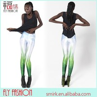 DL792# 2014 Fashion Sexy Charming Casual Grasses Milk 3D Digital Printed Galaxy Girls Leggings