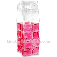 WINE CHILL GEL TOTE Carrier Beer Bottle Cooler Freeze Champagne Bag Flexible