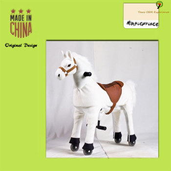 (EN71&ASTM&CE)~(Pass!!)~Dalian Magicprince mechanical ride on animal toy horse on wheels/Animal scooter plush animal toys pony