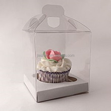 Clear cupcake boxes for 1 cupcake with handle