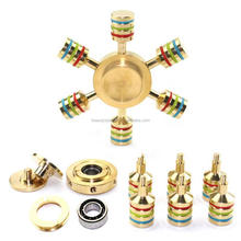 Newest Pressure Relief EDC Toys Low Voice 3D Copper Noctilucence Brass Fidget Spinner Metal Hand Spinner factory