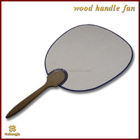 Cost price special discount wooden hand fan wood carving fans