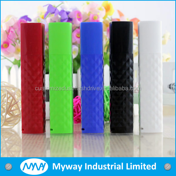 high quality round metal material unique pen powerbank with low price