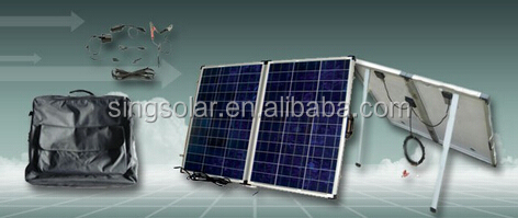 200W waterproof camping foldable y solar pv modules with controller
