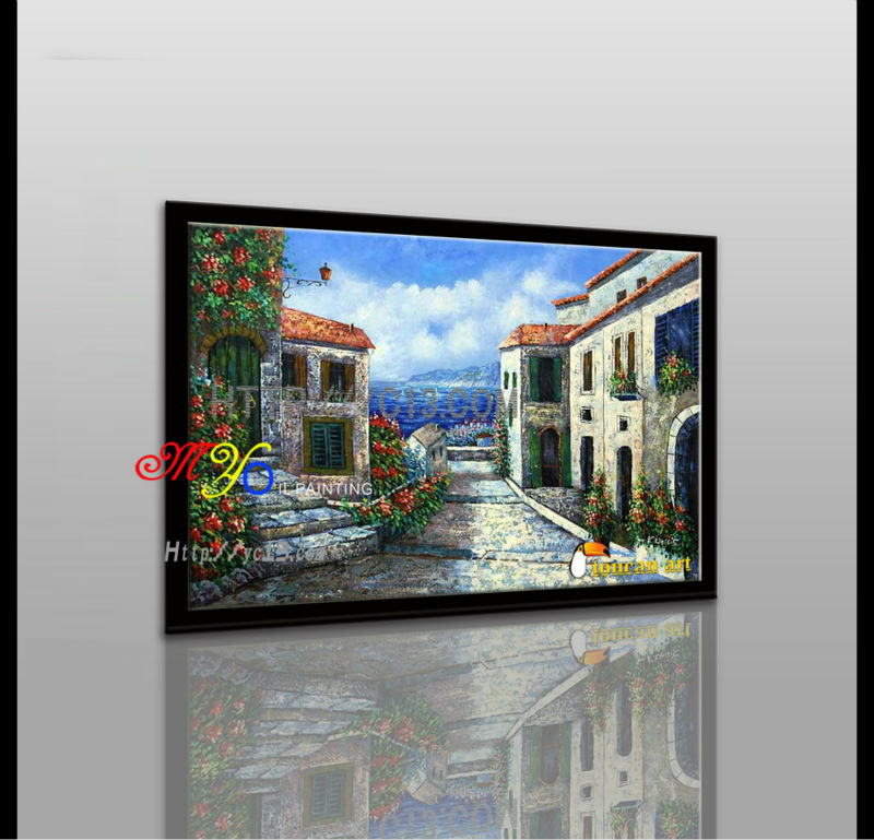 Good quality modern the Mediterranean art oil painting