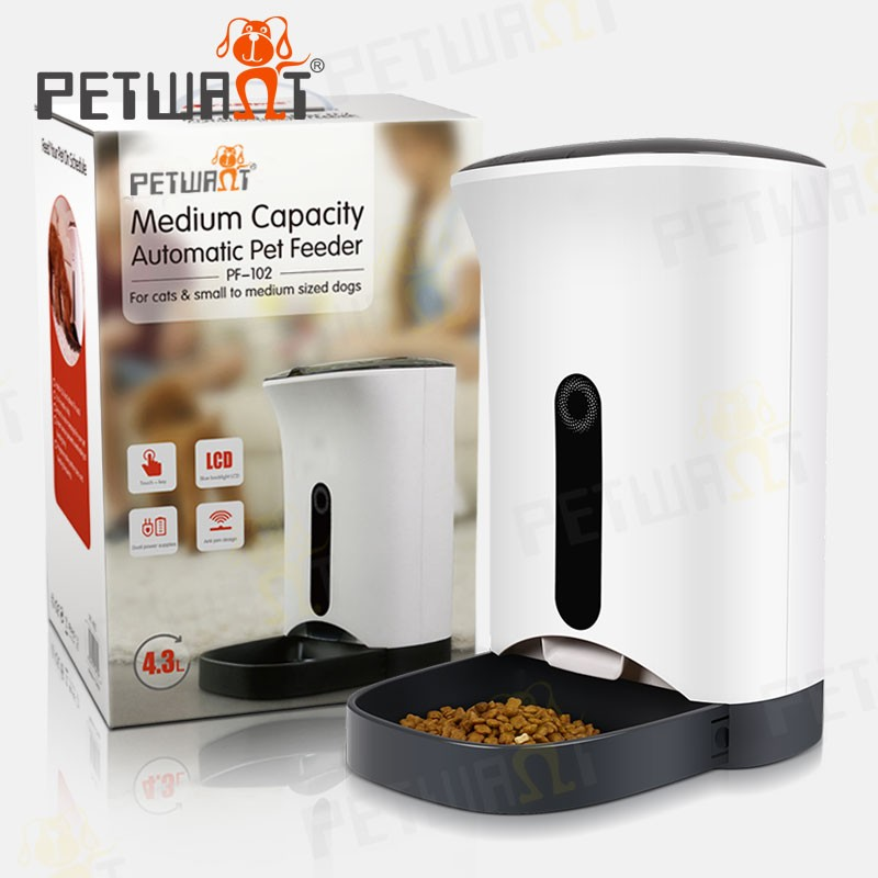 Petwant Smart auto pet feeder with Capacitive touch buttons