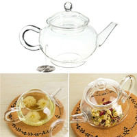 250ml/8.5oz Borosilicate Glass Teapot Heat Resistant For Blooming tea