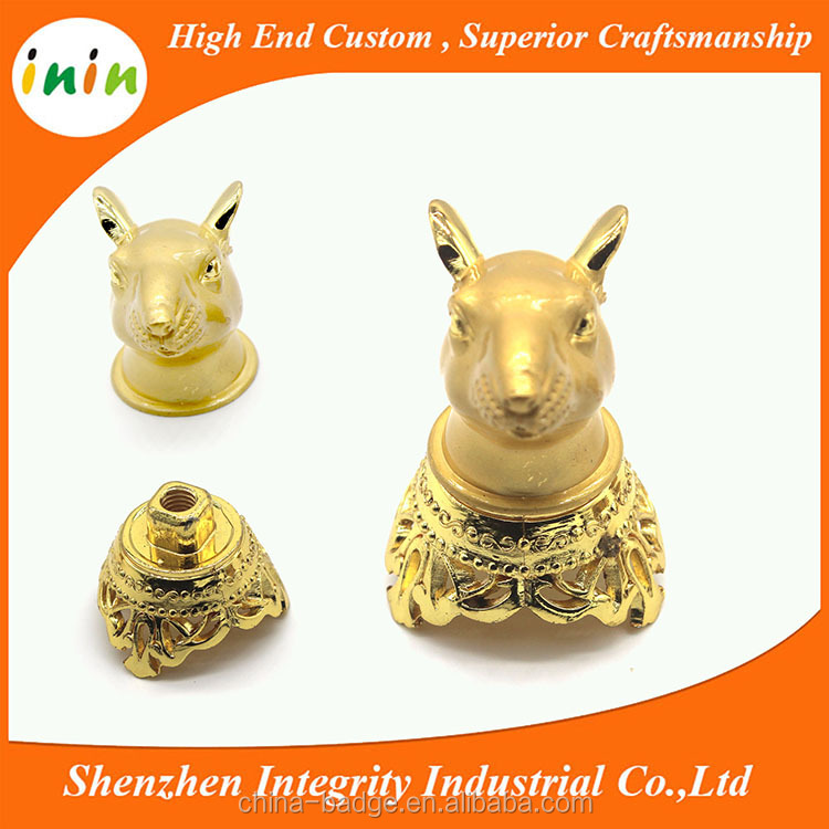 The 12 Chinese zodiac small metal sculpture with base