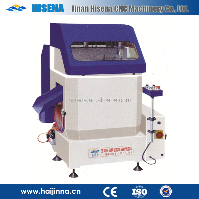 Heavy duty 45 degree aluminum and PVC profile single head cutting saw aluminum window machine