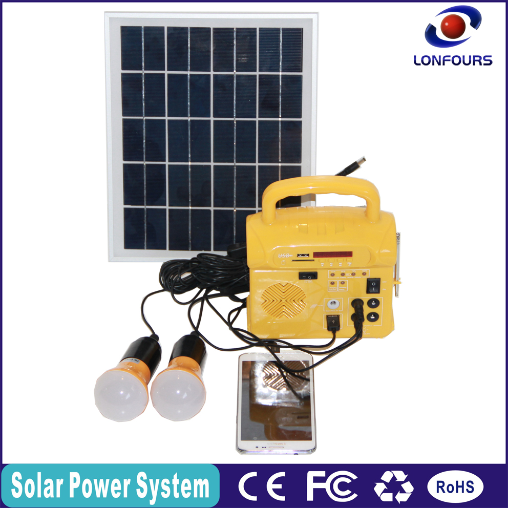 Portable cheap <strong>solar</strong> with FM radio, mobile charger <strong>solar</strong> system for home
