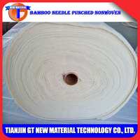 Various processes bamboo needle punched nonwoven and spunlace nonwoven fabric