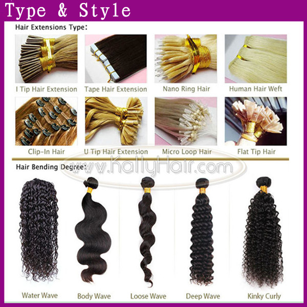2015 Unprocessed Wholesale Virgin Piano Color Hair Extensions
