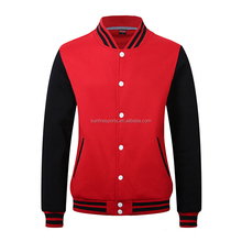 Wholesale blank baseball jacket custom sublimate varsity jacket