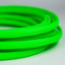 High Density PET Green Braided Cable Protection Expandable Sleeving