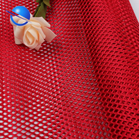 100D polyester tricot big eye hole knitting diamond strong net mesh fabric for baby playpen and bags pocket poly fabric for sale