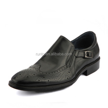 Genuine leather business casual men shoes with buckle hot selling men footwear ,nice price shoe