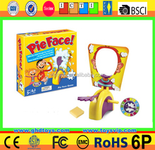 2016 New Rocket Games Pie Face Funny Ecxiting Plastic Game Toy Pie Face