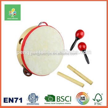 Wooden Musical Intrument for Kids Drum Set Toys