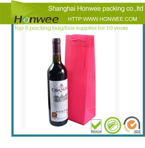 2014 the best selling big red glass wine bottle packaging bag