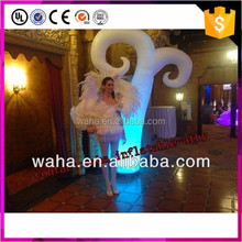 2016 Hot sale party decoration inflatable cone with led light
