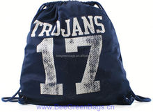 2014 Hot Cheap Jersey Mesh drawstring gunny bag with Carry Tab